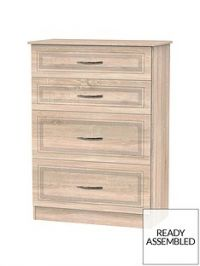 Winchester Ready Assembled Graduated 4 Drawer Chest