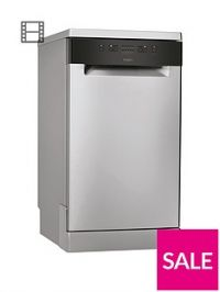 Whirlpool WSFE2B19X 10-Place Slimline Dishwasher with Quick Wash - Stainless Steel