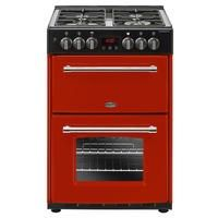 Belling Farmhouse 60DF 60cm Double Oven Dual Fuel Cooker With Cast Iron Pan Stands - Hot Jalapeno