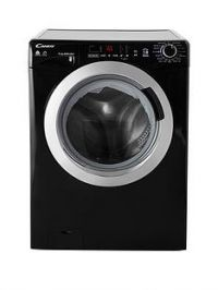 Candy GVSW496DCAB9kgWash,6kgDry, 1400 Spin Washer Dryer with Smart Touch - Black