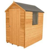 Forest 6 x 4ft Overlap Wooden Apex Shed