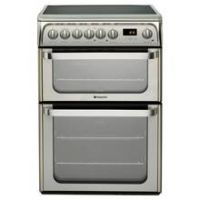 Hotpoint HUE61XS Double Electric Cooker - Silver