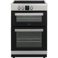 Belling FSI608MFTc 60cm Double Oven Electric Cooker With Induction Hob - Stainless Steel