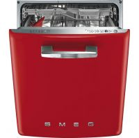 Smeg 50's Retro DI6FABRD Fully Integrated Standard Dishwasher - Red Control Panel - A+++ Rated