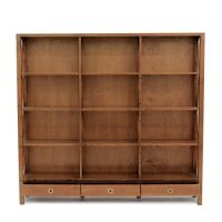 Balmoral Cherry 3 Drawer Triple Bookcase