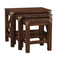 Balmoral Chestnut Nest of 3 Tables