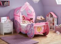 Disney Princess Carriage Toddler Bed Frame with Canopy