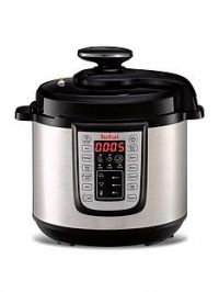 Tefal All-in-One Electric Pressure Cooker - Stainless Steel & Black