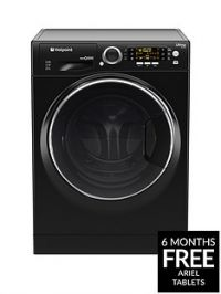 Hotpoint Ultima S-Line RD966JKD 9kg Wash, 6kg Dry, 1600 Spin Washer Dryer - Black