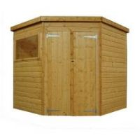 Mercia Wooden 7 x 7ft Shiplap Double Door Corner Garden Shed