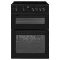 Beko KDC611K 60cm Double Oven Electric Cooker With Ceramic Hob Black