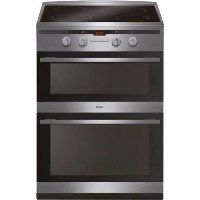 Amica AFN6550SS 60cm Double Oven Electric Cooker With Induction Hob - Stainless Steel