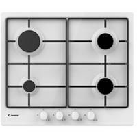 Candy CHW6BRWW 59cm Four Burner Gas Hob With Enamelled Pan Stands - White