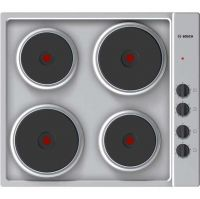 Bosch Serie 2 PEE689CA1 58cm Solid Plate Hob - Stainless Steel