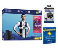 SONY PlayStation 4 Pro with FIFA 19, Twin Docking Station & PlayStation Plus 3 Month Subscription Bundle
