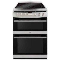 Amica AFC6550SS 60cm Double Oven Electric Cooker With Ceramic Hob - Stainless Steel