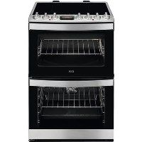 AEG CIB6740ACM 60cm Double Oven Electric Cooker With Induction Hob - Stainless Steel