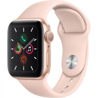 Apple Watch Series 5, 40mm, GPS [2019] - Gold Aluminium Case with Pink Sand Sport Band