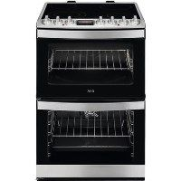 AEG CCB6740ACM CCB6760ACM 60cm Double Oven Electric Cooker With Ceramic Hob - Stainless Steel