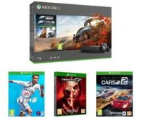 MICROSOFT Xbox One X with Forza Horizon 4, FIFA 19, Tekken 7 & Project Cars 2 Bundle