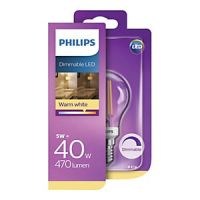 Philips Vintage Filament LED White Clear Dimmable Candle Bulb - 5W E14