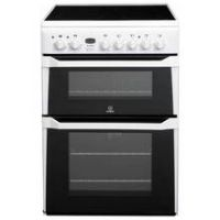Indesit ID60C2 Double Electric Cooker - White