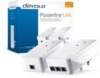 Devolo dLAN powerline 1200 TRIPLE PLUS (Gigabit Ethernet) Starter Kit (2x plugs)