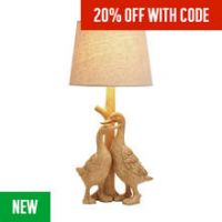 Argos Home Ducks Table Lamp - Natural