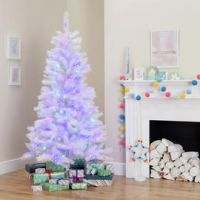 Argos Home 6ft Pre Lit Iridescent Christmas Tree - White