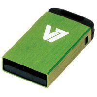 32GB V7 USB 2.0 Nano Flash Drive (Green)