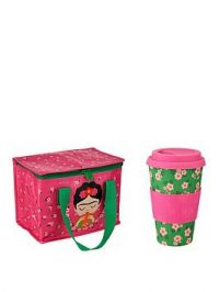 Sass & Belle Frida Kahlo Lunch Bag And Bamboo Coffee Cup