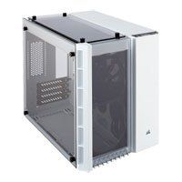Corsair Crystal 280X White MicroATX PC Chassis with Tempered Glass Window, MicroATX/Mini-ITX, 2x 120mm Fans