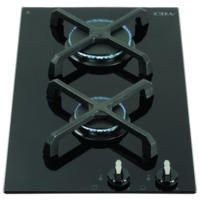 CDA HG3602FR 30cm Domino Two Burner Gas-on-glass Hob Black