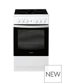 Indesit IS5V4KHW 50cm Electric Single Oven Cooker - White