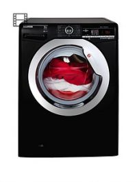 Hoover Dynamic NextDXOA48C3B 8kgLoad, 1400 Spin Washing Machine with One Touch - Black/Chrome