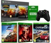 MICROSOFT Xbox One X with PUBG, Forza Horizon 4, Tekken 7, Project Cars 2, LIVE Subscription & Wireless Controller Bundle