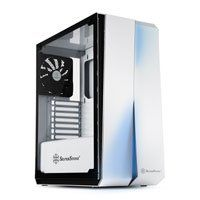 SilverStone RL07W-G-Red Line White Midi Tower ATX Gaming Case Tempered Glass Window Silent