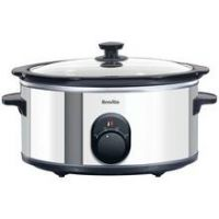 Breville 4.5L Slow Cooker - Stainless Steel