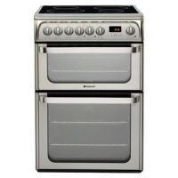 Hotpoint HUI611X 60cm Induction Electric Cooker in St Steel Double Ove