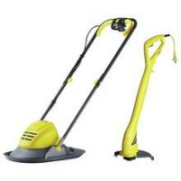 Challenge 29cm Corded Hover Lawnmower 1100W and Trimmer 250W