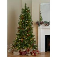 Argos Home 6ft Mixed Tip Snowy Pre Lit Christmas Tree