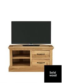 Luxe Collection - Kingston 100% Solid Wood Ready Assembled Corner TV Unit - fits up to 40 Inch TV