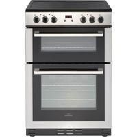 New World 444444029 60cm Electric Double Oven Cooker - Stainless Steel