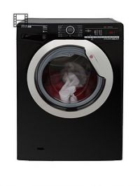 Hoover Dynamic NextDXOA410C3B 10kgLoad, 1400 Spin Washing Machine with One Touch - Black/Chrome