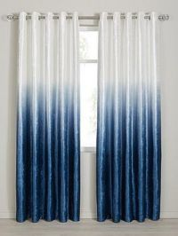 Ombre Velvet Heavyweight Lined Eyelet Curtains