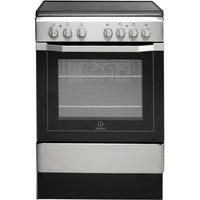 Indesit I6VV2AX 60cm Single Oven Electric Cooker with Ceramic Hob - Stainless Steel
