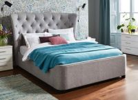 Wells Fabric Upholstered Bed Frame