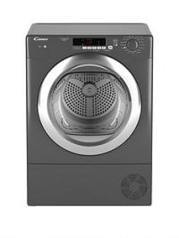 Candy Grand'O VitaGVSC10DCGR 10kg Load Condenser Sensor Tumble Dryer with Smart Touch- Graphite