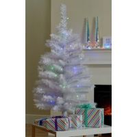 Argos Home 3ft Pre-Lit Iridescent Christmas Tree - White
