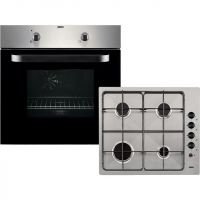 Zanussi ZPGF4030X Built In Electric Single Oven and Gas Hob Pack - Stainless Steel - A Rated